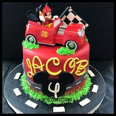 Image result for MICKEY AND THE ROADSTER RACER CAKE
