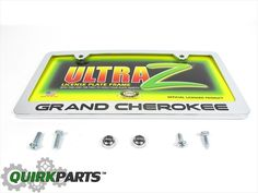 details about new 1993 2017 jeep grand cherokee rear license plate frame