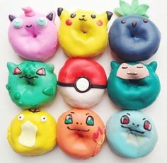 pokemon go donuts Pokemon Go, Pokemon Party, Cool Pokemon, Pokemon Stuff, Pikachu, Delicious Donuts, Delicious Desserts, Chicken Sushi, Suet Pudding