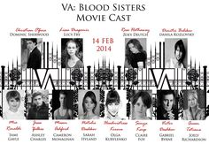 Vampire Academy Blood Sisters complete cast! Finally!