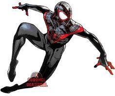 Miles Morales Spider-verse Png by TheSuperiorXaviruiz on DeviantArt