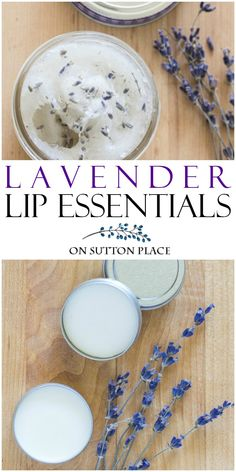Lavender Lip Essentials | DIY Year-Round Lip Care: Make your own lavender lip exfoliator and lavender lip balm using basic ingredients & lavender essential oil.  #lavender #lavenderessentialoil #lipexfoliator #lipbalm via @adrake606