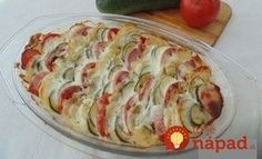 Výborný obed, alebo aj príloha k letnému obedu. Všetci boli príjemne prekvapení, že obyčajná zelenina zo záhradky môže chutiť takto výborne, odporúčam každému. Potrebujeme: 4 ks (veľké) zemiaky nové 2 ks cuketa 4 ks (veľké) paradajky 3 strúčiky cesnak podľa Diet Recipes, Vegetarian Recipes, Cooking Recipes, Healthy Recipes, Zucchini, Cooking For Dummies, Czech Recipes, Hungarian Recipes, Top 5