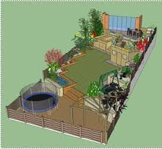 Image result for sloping gardens