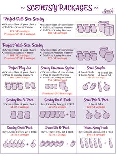 Updated Combo Packs Kristi Brown- Independent Scentsy Consultant  http://kjbrown10.scentsy.us kjbrownscents@hotmail.com