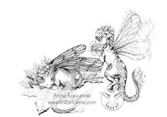 "TWO FAIRY DRAGONThis digital file includes one ""Two fairy dragons"" coloring page for kids and adults.Payment via Paypal.Share your work #fineartanne or #coloringfineartanne on instagram and Facebook!Content:- Instant download- Printable as big as A3- 300 dpi- .jpg.- Without watermarkREAD TERMS OF US"