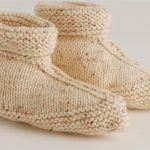 BREI: Pantoffels – In een stuk