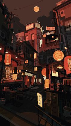 WANEELLA pixel art is part of Pixel art - Illustration for the wonderful The Tokyoiter project 🏮 Animes Wallpapers, Cute Wallpapers, Aesthetic Anime, Aesthetic Art, Arte 8 Bits, Pixel Art Background, Background Drawing, 8bit Art, Anime Scenery