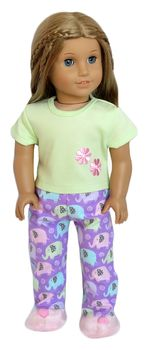 Elephant pajamas for American Girl Doll.