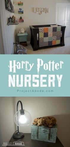 Check out details from this Harry Potter inspired vintage nursery on Project Abode