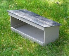 $32.95:  The FeralVilla Small Feeding Station allows food and water bowls to be protected from rain, snow & falling leaves. Unlike the FeralVilla Large Feeding Station, it is sized to fit into areas where smaller size is required for concealment. Beautifully constructed!  Wonderful for feeding a feral cat colony (or your own outdoor pets).