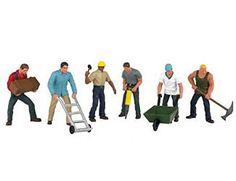 Bachmann Scene Scapes HO Scale Figures Construction Workers