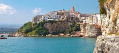 Panoramic view of Vieste, Puglia Travel Tours, Travel List, 10 Days In Italy, Christmas In Italy, Small Group Tours, Environmental Education, Southern Italy, Private Pool, Small Towns