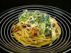 Spaghetti oder andere Pasta mit Brokkoli, Ricotta und Walnüssen | Aus meinem Kochtopf