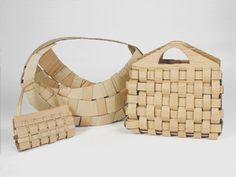Woven Cardboard Baskets by Julene Aguirre-Bielschowsky