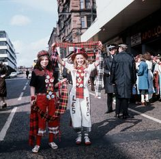 Bay City Rollers fans outside the Apollo, Glasgow in 1975.