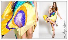 Dresses, silk