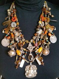 Coin Jewelry, Tribal Jewelry, Jewelry Crafts, Jewelry Art, Beaded Jewelry, Jewelery, Vintage Jewelry, Handmade Jewelry, Fashion Jewelry
