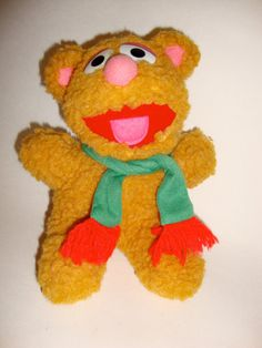Vintage 1987 Baby Fozzie Bear Plush Toy Stuffed Animal Retro 1980s Henson Muppets via Etsy