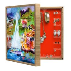 Ginette Fine Art Sailing Past Vernazza Italy BlingBox Petite | DENY Designs Home Accessories