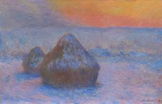 Claude Monet French, 1840-1926, Stacks of Wheat (Sunset, Snow Effect) 1890 Chicago Institute of Art