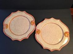 """2 Pieces HORCHOW OF ITALY Dinner Plates 12.5"""" MEDICI Neiman Marcus Stoneware L2"""