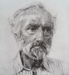 Colin Davidson - Tom Cromie, 2012, Crayon on Paper
