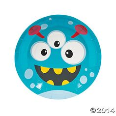 Mini Monster Dinner Plates, Party Plates, Party Tableware, Party Supplies - Oriental Trading