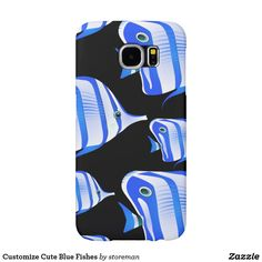 Customize Cute Blue Fishes Samsung Galaxy S6 Case