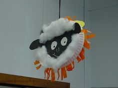 March lamb and lion craft, double sided to display hanging.  They turned out great.