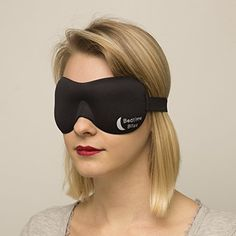 Bedtime Bliss® Contoured & Comfortable Sleep Mask & Ear Plug Set. Includes Carry Pouch for Eye Mask and Ear Plugs - Great for Travel, Shift Work & Meditation