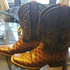 Ariat Cowboy boots! Size 4.5/6 Ariat Cowboy boots, worn around my house, not outside, very nice just not my size sadly! Open to offers! Ariat Shoes