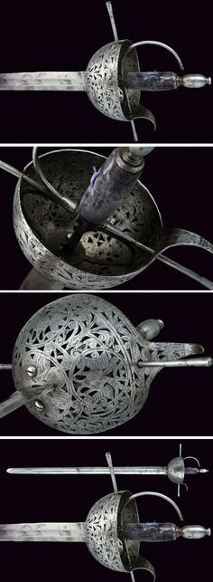 composite cup-hilted sword    provenance: Spain dating:  17th Century