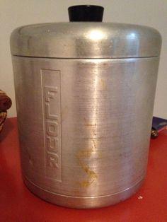 Mid Century Flour Canister Spun Aluminum Jar Vintage 1950s | eBay