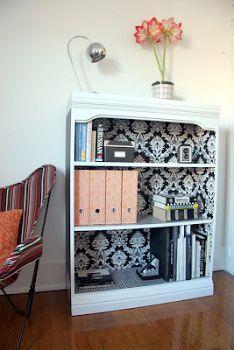 Wallpaper your furniture DIY