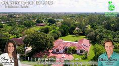Spanish Mediterranean Hacienda on Waterfront Acre Lot in Miramar ~ One of a kind home rebuilt in 2009 with new electric, plumbing & roof features expansive kitchen with mahogany cabinets, island, double ovens, granite tops, 2 walkin pantries and more.  Call Patty at 954-667-7253