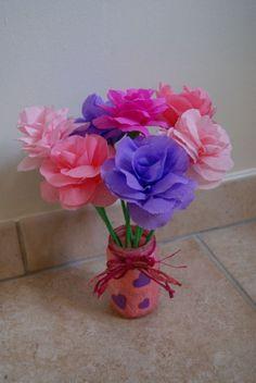 bouquet de fleurs en papier crépons