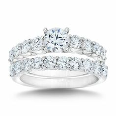 costco princess and round brilliant cut diamond wedding set 1 45