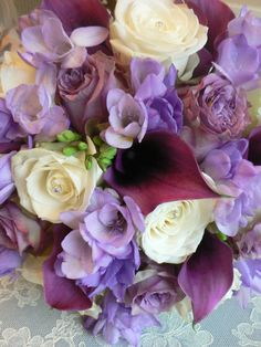 Such a beautiful mix! Laurel Weddings Flowers  www.laurelwedding...