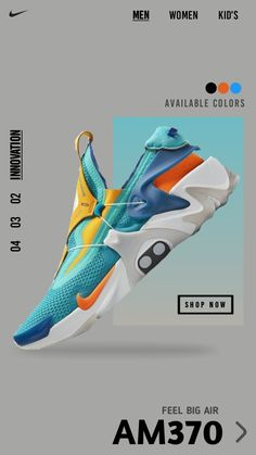Sports Graphic Design, Graphic Design Posters, Graphic Design Inspiration, Shoe Advertising, Instagram Advertising, Web Design, Nike Design, Nike Poster, Sneaker Posters