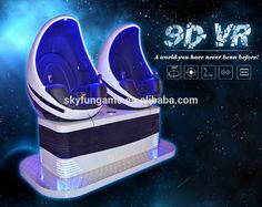 Skyfun artificial and new dinosaur egg chair 9D VR cinema simulator electric motion ride theme video with best animal movies