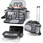 The ultimate, all-in-one, insulated tailgating cooler with gas grill, three-piece BBQ tools, and fully-removable waterproof cooler section. Propane and Trolley not included. Bbq Grill, Grilling, Barbecue, Picnic Cooler, Propane Gas Grill, Bbq Set, Picnic Time, Picnic Bag, Picnic Baskets