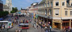 The Walking Street in Kristiansand, Norway