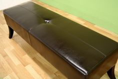Living Room Furniture :: Sofas & Loveseats :: DANILO Dark Brown Leather Bench - Bachelor Furniture: Bar Furniture, Dorm Furniture, Apartment Furniture