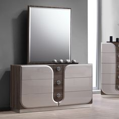 Chintaly London 6 Drawer Dresser with Mirror Glass Dresser, Six Drawer Dresser, Double Dresser, Dresser Sets, Dresser With Mirror, Wood Dresser, Dresser Table, Chintaly Imports, Dressing Table Design