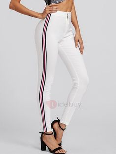 Skinny Side Striped Thin Women& Casual Pants Skinny Side Striped Thin Womens Casual Pants The post Skinny Side Striped Thin Women& Casual Pants & Vêtements et accessoires appeared first on Plaid pants . Casual Jumpsuit, Casual Pants, Trousers Women, Pants For Women, Skinny Sides, Plaid Pants, Leggings Are Not Pants, Jeans, Sneaker