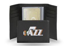 Utah Jazz NBA Team Embroidered Leather Trifold/Wallet
