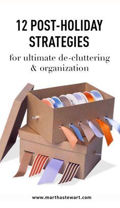 12 Post-Holiday Strategies for Ultimate De-Cluttering & Organization | Martha Stewart Living - After the flurry of holiday festivities, homeowners and hosts are left with a perplexing conundrum: What is one to do with the gifts, goodies, tinsel, and trimmings? The solution is simpler than you may think. Greet the New Year with an expertly organized and totally tidy home!