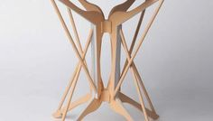 HANGERS TABLE: upcycled clothes hangers by Federica Sala