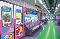 Subway design in #Seoul, South #Korea, 라바 지하철, 서울